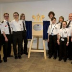 Staff attend plaque unveiling to commemorate the newly renovated headquarters of St. Andrews First Aid.