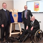 David Blunkett at plaque unveiling to mark 100 years of the charity Blind Veterans.