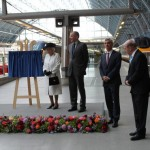 The Queen unveils plaque to celebrate 20th anniversary of Channel Tunnel opening and launch