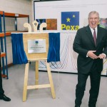 The Duke of York,unveils plaque to opens Pexa's new facility in West Yorkshire.