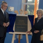 Her Royal Highness The Duchess of Gloucester unveils plaque at St Mary's Hospice to declare the new Cavendish Wing officially open.