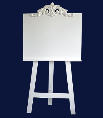 Shabby Chic Wedding Display Easel