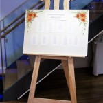Classic Display Easel used as wedding easel to hold seating plan.