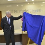 Display Easel & Plaque Unveiling Drape used for the opening of Nuffield Health Cambridge Hospital by HRH The Duke of Gloucester