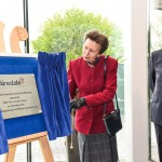 Plaque Unveiling Stand used by Princess Anne at Airedale International Air Conditioning Factory in Leeds