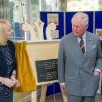 Plaque Unveiling by Prince Charles to commemeorate his vist to Plas Bryn Rhosyn. Photo courtesy of Age Cymru