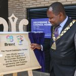 Plaque unveiling by the Mayor of Brent to officially open the Foord Community Centre.