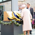 The Queen unveils plaque at Palace House, Newmarket to officially open the National Heritage Centre for Horseracing & Sporting Art