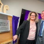 Plaque unveiling to officially open CARE Birmingham was officially opened by Louise Brown & John Webster