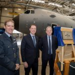 Plaque unveiling to officially open the new Atlas Aircraft Hangar