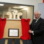 Plaque unveiling by Air Marshal Philip Osborn to open the Leonardo Academy Development
