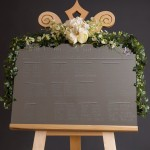 Our display easel transformed into a wedding easel